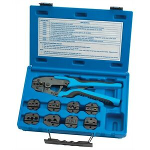 Tool Aid Quick Change Master Ratcheting Terminal Crimper Kit With 9 Dies 18980
