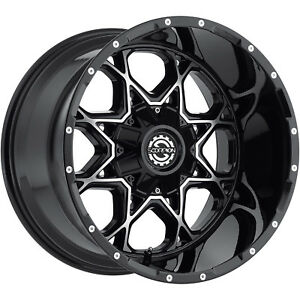 20x10 Black Machined Sc10 8x6 5 19 Wheels Country Hunter Mt 42 Tires