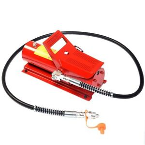 10 Ton Porta Power Hydraulic Air Jack Foot Pump Control Lift Tool Hose 170psi