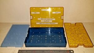 Med stor Plastic Delicate Instrument Sterilization Tray W Mat Basket Medical