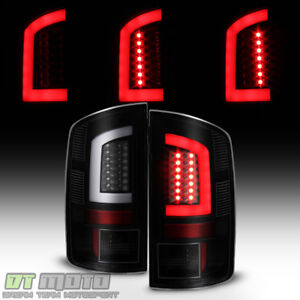 Black Smoke 2002 2006 Dodge Ram 1500 03 06 2500 3500 Led Tube Tail Lights Lamps