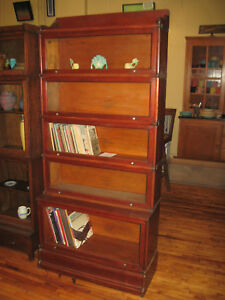 We Ship Antique Early Wernicke Mahogany 5 Stack Barrister Bookcase Book Shelf