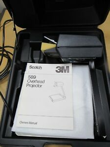Portable Overhead Projector 3m Model 589 Works Good In Case