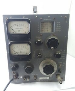 Vintage Hp Hewlett packard Vhf Signal Generator 608b Us Navy 1950s Blue Turns On