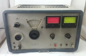 Vintage Hp Hewlett packard Vhf Signal Generator 606a Us Navy 1959 Turns On