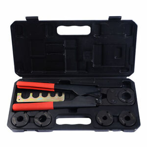 5 In 1pex Crimper Copper Ring Crimping Plumbing Tool Set 3 8 1 2 5 8 3 4 1
