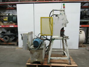 10hp Open Back C Frame Hydraulic Crimping Press 4 Stroke 208 230 460v W die