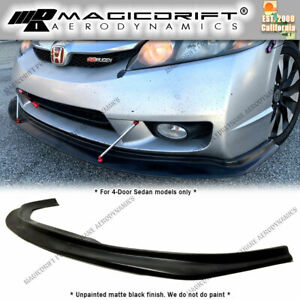 For 09 11 Honda Civic Sedan 4dr Mda Style Front Bumper Chin Splitter Lip Spoiler