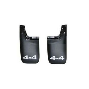 Pair Set Of Rear Left Right Black Mud Flap Splash Guards For Toyota Tacoma