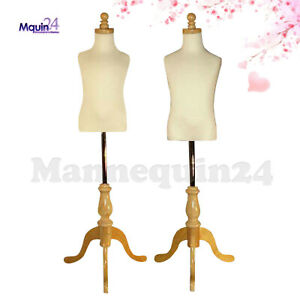 2 Kids Mannequin Set For Size 3 4 Yr 5 6 Yr Wooden Bases Child Dress Forms