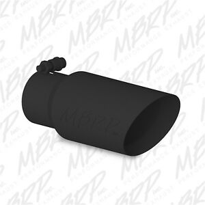 Mbrp Exhaust T5156blk Dual Wall Angled Exhaust Tip