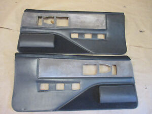83 84 Firebird Trans Am Dlxe Door Panels Graphite Cloth Pw Lh Rh Pair 0208 16