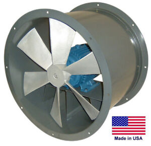 27 Tube Axial Duct Fan Direct Drive 2 Hp 115 230v 1 Phase 11 500 Cfm