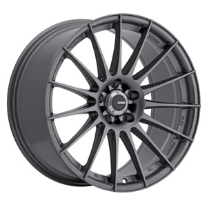 2 19x9 5 35 5x120 Konig Rennform Gray Wheels Rims 19 Inch 47925