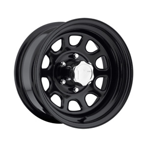 Set 4 15x8 19 6x139 7 6x5 5 Vision D Window Black Wheels rims 15 inch 49634