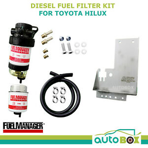 Diesel Fuel Filter Water Separator Toyota Hilux Kun26 3 0l Mount Bracket 2005 15