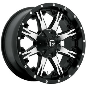 20x10 Black Machined Fuel Nutz 8x180 12 Rims Country Hunter Mt 37 Tires