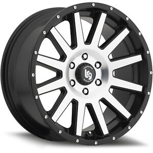 20x9 Machined Black Lrg 107 8x170 12 Wheels Country Hunter Mt 33 Tires