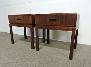 Pair Of Maurice Villency Mid Century Modern Walnut Nightstands End Tables