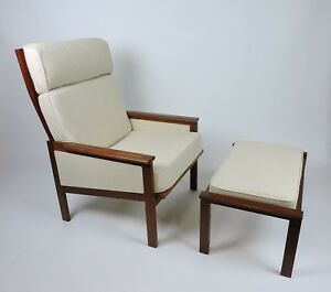 Illum Wikkelso Eilersen Danish Modern Capella Lounge Chair Ottoman
