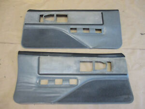 85 90 Firebird Trans Am Dlxe Door Panels Gray Cloth Pw Lh Rh Pair 0210 4