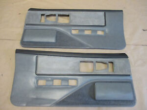 85 90 Firebird Trans Am Dlxe Door Panels Gray Cloth Pw Lh Rh Pair 0210 6