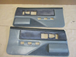 85 88 Firebird Trans Am Dlxe Door Panels Gray Graph Cloth Pw Lh Rh Pair 0210 11