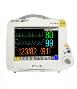 Philips Mp30 Intellivue Color Patient Monitor M3001a M8002a W Cables G Rev