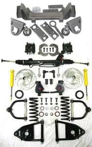1935 40 Ford Truck Mustang Ii Power Front End Suspension Kit Drop Chevy Pattern