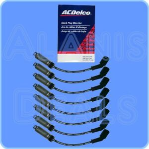 Gm oem Spark Plug Wire Set W heat Shield 8 For Round Coils Stamped 19005218