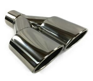 Exhaust Tip 2 25 In Inlet Dual 3 00 Oval X 2 50 High Outlets 9 75 In Long Resona