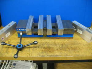 Kurt Dl640 Double Lock Vise W speed Handle Monster Jaws Xtra Jaws Cnc Mill