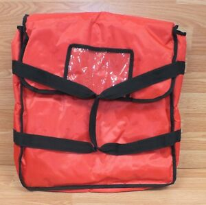 Unbranded Red Black 18 X 18 inch Padded Pizza Delivery Bag W Strap Handle