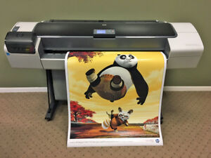 Hp Designjet T1200 44 2 roll Printer Plotter With New Ink And Printheads