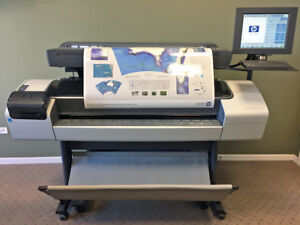 Hp Designjet T1200mfp 44 Wide Large Format Copier Printer Scanner