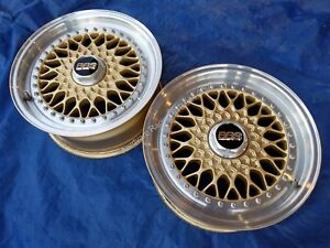 Porsche 944 Bbs Rs012 Store Display 16x7 3 piece Alloy Wheel Pair 0 Miles