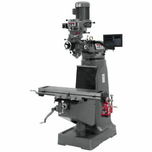 Jet 691188 Jtm 1 Mill With Newall Dp700 Dro With X axis Powerfeed