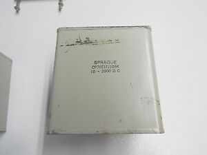 Sprague 10uf 2000v Dc Oil Filled Capacitor