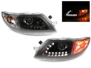 Ic Ce School Bus 2005 2015 Black Projector Led Headlights Head Lights Lamps Pair