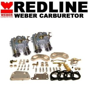 For Alfa Romeo Carburetor Kit 40mm Dcoe Dual Sidedraft Kit Redline Weber K 501