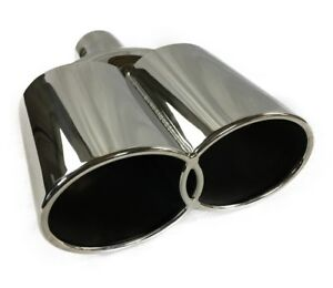 Exhaust Tip 2 25 In Inlet Dual 3 50 X 3 50 Dia Outlets 10 75 In Long Stainless
