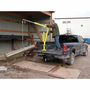 Hand Crank Steel Crane 2 000 Lbs Cap Truck Or Trailer Bed Mounted 360 Deg