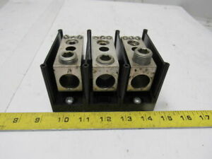 Gould Shawmut 67453 Power Distribution Block 3 Pole 350a
