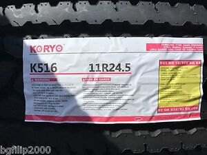 8 Tire Commercial Truck Tire 11r24 5 Koryo K516 Closed Shoulder Drive Tires
