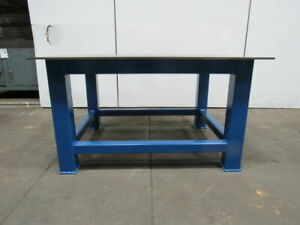 H d 1 2 Thick Top Steel Fabrication Layout Welding Table Work Bench 59 X 47