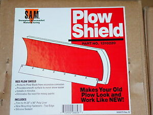 Snow Plow Shield Poly Liner Blade 4x4 Atv Meyer Buyers 1310220 Red For Western