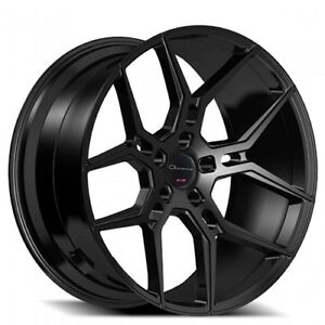Bn 1set 20 Inch Staggered Giovanna Wheels Haleb Black Rims Fh