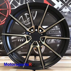 Xxr 567 Wheels Black Bronze 18 20 Staggered Rims 5x114 3 Fit Nissan 350z Nismo