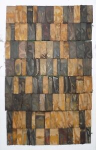 110 Piece Vintage Letterpress Wood Wooden Type Printing Blocks 82 M m bc 3015