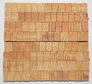 111 Piece Vintage Letterpress Wood Wooden Type Printing Blocks 25 M m bc 2007